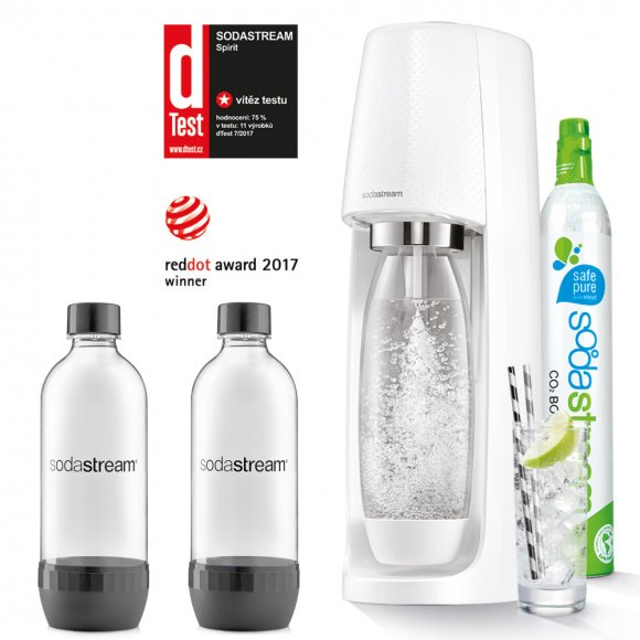 SODASTREAM Spirit White + 2 ks lahví