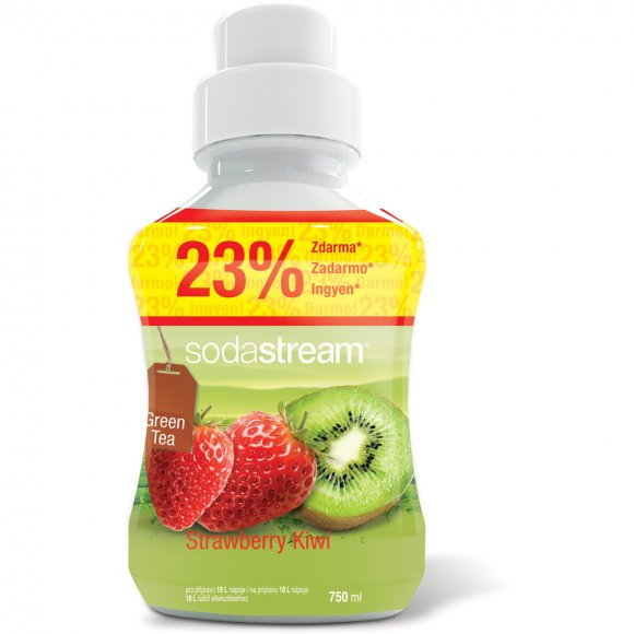 SODASTREAM Příchuť ice tea kiwi/jahoda 750 ml