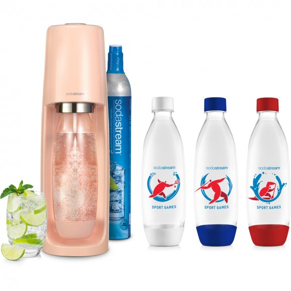 SodaStream Spirit Peach + Lahve Sport Games